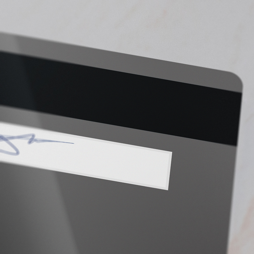 magnetic stripe encoding on a plastic card