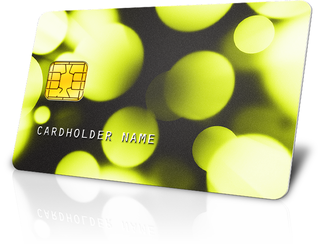 plastic card with matte lamination simulation