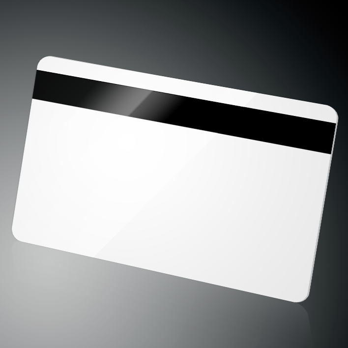 CR80 plastic card with 2-track magnetic stripe, magnetic card