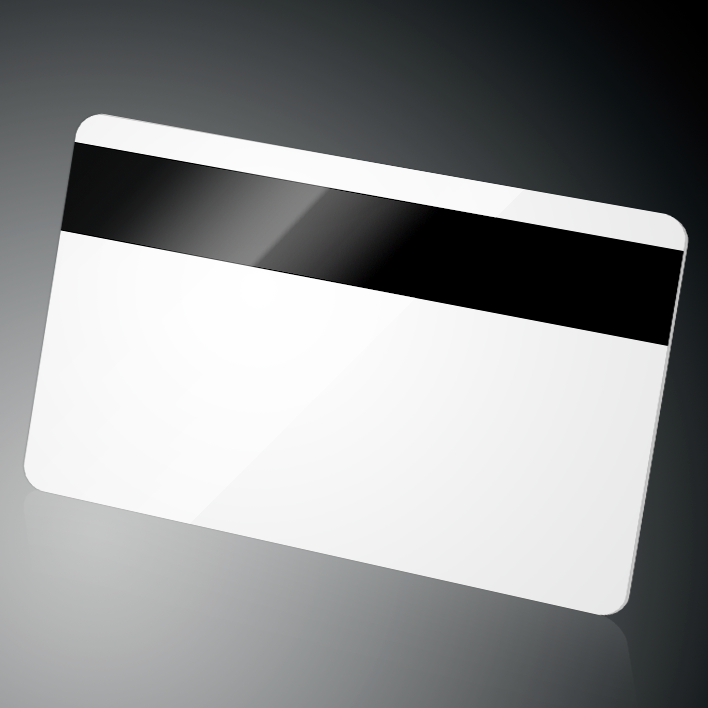 CR80 plastic card with 3-track magnetic stripe, magnetic card