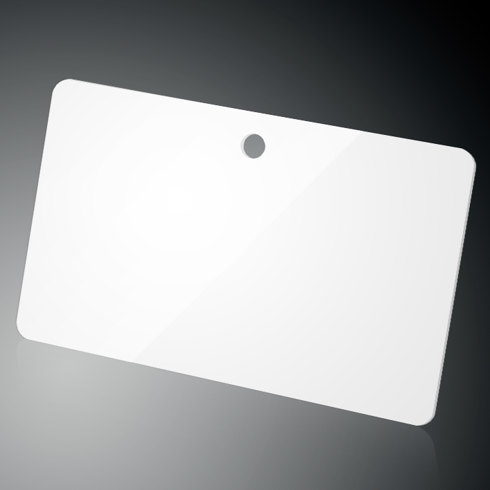 CR80 plastic card with fi5 round hole punch